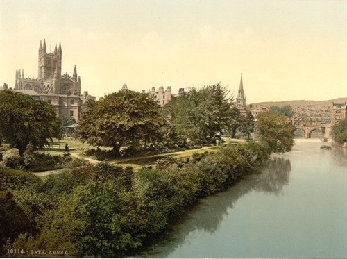 [The Abbey, from the bridge, Bath, England]