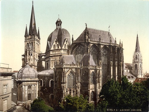[The cathedral, Aachen, the Rhine, Germany]