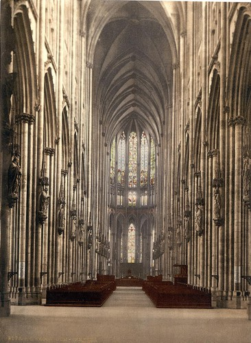 [The cathedral interior, Cologne, the Rhine, Germany]