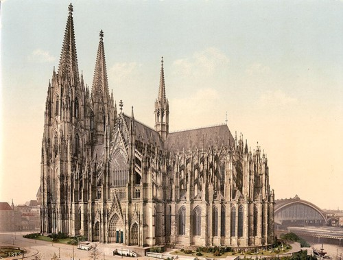 [The cathedral, side, Cologne, the Rhine, Germany]