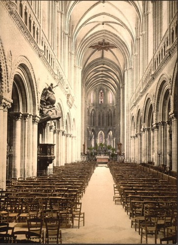 [The cathedral, interior, Bayeux, France]