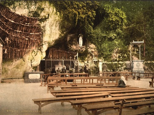 [The grotto of Notre Dame, Lourdes, Pyrenees, France]