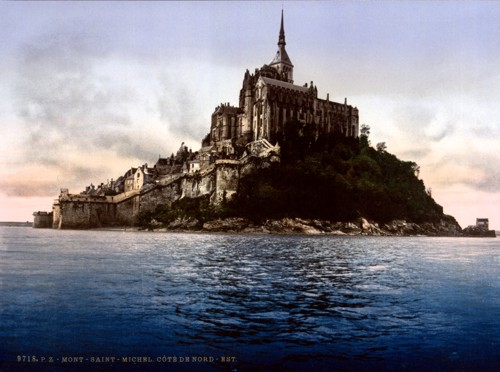 Abbey, Mont St. Michel, France, another view.