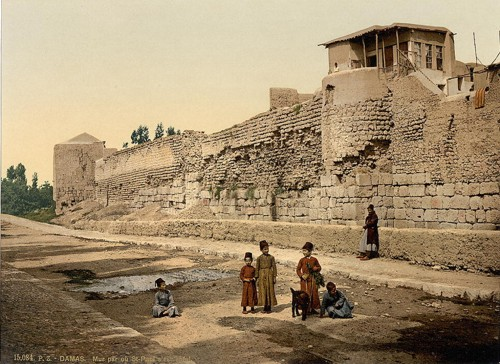 [Wall over which St. Paul escaped, Damascus, Holy Land, (i.e. Syria)]
