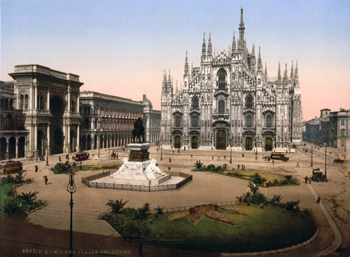 [Piazza of the cathedral, Milan, Italy]