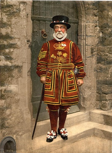 [A yeoman of the guard (Beefeater), London, England]