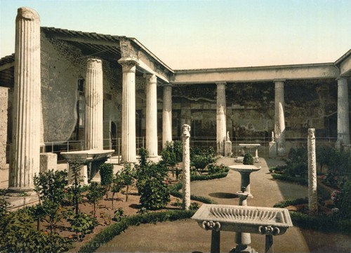 [Peristyle of the House of Vetti, Pompeii, Italy]